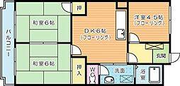 シャトレ片野II[205号室]の間取り