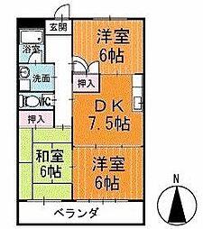 マンション寿 3階[303号室]の間取り