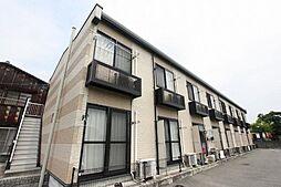 広島県福山市神辺町大字新道上の賃貸アパートの外観
