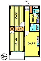 クレセントハイツ[10階]の間取り