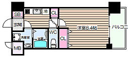 グランカーサ梅田北[14階]の間取り