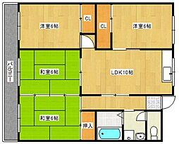 江崎第7ビル[202号室号室]の間取り