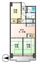 ビレッジハウス木場タワー[7階]の間取り