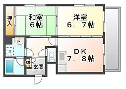 ラミアカーザ[3階]の間取り
