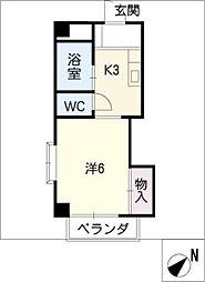 ハイツ竹の山[2階]の間取り