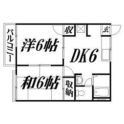 静岡県浜松市西区伊左地町の賃貸アパートの間取り
