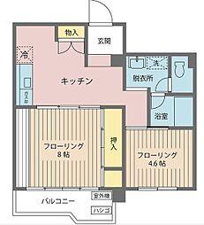 ポルシェ北松戸[3階]の間取り