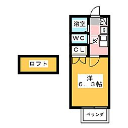 メゾンマルシェ[1階]の間取り
