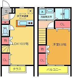 [テラスハウス] 東京都足立区中川3丁目 の賃貸【/】の間取り