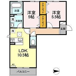 仮)D-room今保 B棟[1階]の間取り