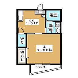 アーバンライフ桜山[2階]の間取り
