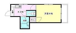ロイヤルメゾン古江[4階]の間取り