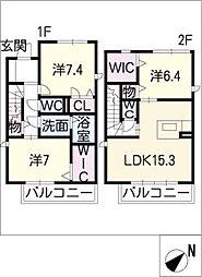 [タウンハウス] 愛知県名古屋市名東区高針5丁目 の賃貸【/】の間取り