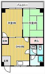 阪下ハウスマンション御崎B棟[2階]の間取り