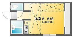 東京都八王子市明神町2丁目の賃貸アパートの間取り