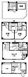 [一戸建] 東京都大田区南蒲田1丁目 の賃貸【/】の間取り