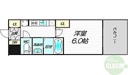 エステムコート新大阪XIIIニスタ 3階1Kの間取り