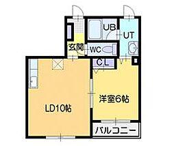 パラスプラザ[3階]の間取り