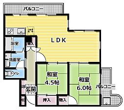 クレリエール門真[3階]の間取り