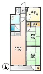 レジデンス大須[4階]の間取り