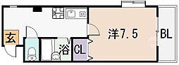 ロイヤルハイム上小阪[207号室]の間取り