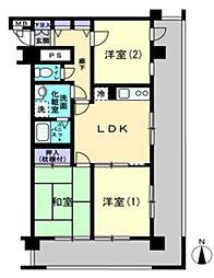 東京都小平市栄町2丁目の賃貸マンションの間取り