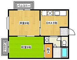 千景ハイツ[2階]の間取り