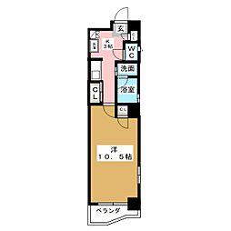 プレステージ西大須[6階]の間取り