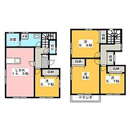 [一戸建] 静岡県浜松市中区中島3丁目 の賃貸【/】の間取り