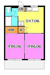 サンクレスト野崎[1階]の間取り