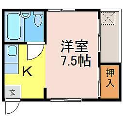 コーポ高坂[3F-東号室]の間取り