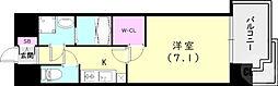 JR東海道・山陽本線 神戸駅 徒歩14分の賃貸マンション 4階1Kの間取り