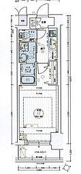 名古屋市営東山線 今池駅 徒歩2分の賃貸マンション 11階1Kの間取り