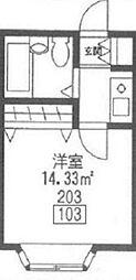 東京都板橋区徳丸8丁目の賃貸アパートの間取り