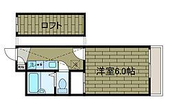 新百合[3階]の間取り