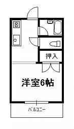 ローズハウス[202号号室]の間取り