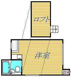 アパートメンツ・リサ津[1階]の間取り