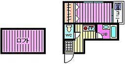 ティーエス・ハウス[203号室]の間取り