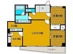 テゾーロ麻生柿生[5階]の間取り
