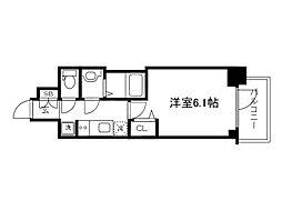 Osaka Metro長堀鶴見緑地線 松屋町駅 徒歩4分の賃貸マンション 5階1Kの間取り