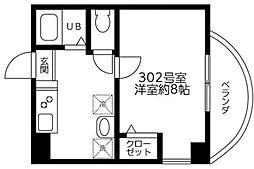 東京都狛江市中和泉5丁目の賃貸マンションの間取り