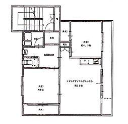 ビレッジハウス佐賀第二 2号棟[208号室]の間取り