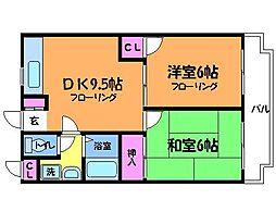 パストラルマンションMII[3階]の間取り