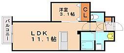 ラメゾンドナチュール[10階]の間取り