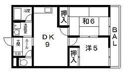 サンロゼヤマモト[302号室号室]の間取り
