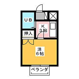コーポU[2階]の間取り