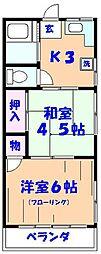 伸幸荘[201号室]の間取り