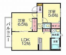 シャーメゾン井野[1階]の間取り