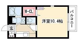 愛知県名古屋市昭和区山花町の賃貸アパートの間取り