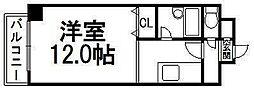 コスモス東札幌[505号室]の間取り
